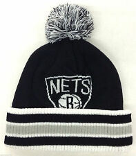 NBA Brooklyn Nets Adidas Knit Hat Cap Beanie w/ Pom KP68Z NEW!