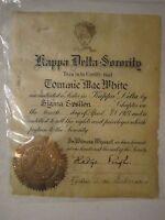 1927 KAPPA DELTA SORORITY INITIATION CERTIFICATE BY SIGMA EPSILON CHAPTER -BN12