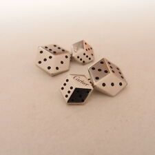 Vintage Cartier Sterling Silver 925 Dice Design Chain Cufflinks