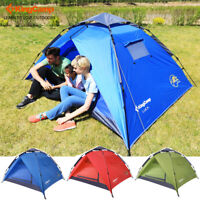 KingCamp 3-Persons 2-Seasons Tent Quick-Up 2-IN-1 Roomy Outdoor Camping Tents