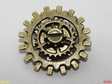 Steampunk broche insignia con Pin Bronce COGS Rueda Dentada mecánico