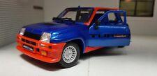 Renault 5 Turbo azul Metálico coche modelo 1 24 Burago