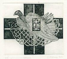 """Joann"" Fairy Tale, Original Art Graphic, Ex libris Etching  by Sofia Piskun"