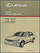 2000 Lexus GS 300 400 Repair Manual Volume 1 GS300 GS400 Shop Book NEW OEM