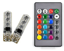 T10 6 SMD 5050 RGB LED Car Wedge Side Light Strobe Lamp Bulb & Remote Control UK