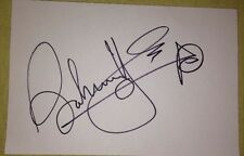 JOHNNY VEGAS SIGNED 6X4 WHITE CARD COMEDY ACTOR TV AUTOGRAPH 100% AUTHENTIC