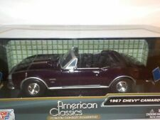 1967 Chevrolet Camaro SS - Burgandy, 1/24 Motormax  Metal Model Car