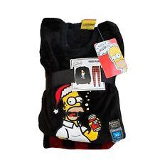 XS Mens Christmas Pyjamas Set Pjs Fleece Primark The Simpson's Homer Long Sleeve