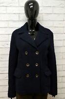 Cappotto Donna ROY ROGERS Taglia 44 M Giubbino Giubbotto Giacca Jacket Blu Lana