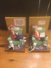 Shoe Box Maxine Resin Figurine Book Ends Zzzzz Ready Books Dog Hallmark