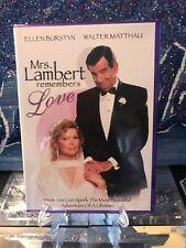 Mrs. Lambert Remembers Love (DVD) Like New! Rare OOP Purple Case. Walter Matthau