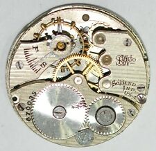 SOUTH BEND POCKET WATCH MOVEMENT 29mm FOR PARTS REPAIRS #W806