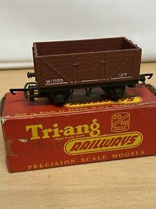 Triang  Railways Open 12T Coal wagon in Brown W1005 BOXED Cat R10