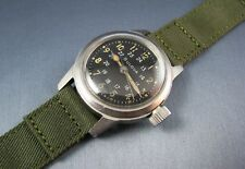 Vintage Bulova Stainless Steel US Military Mil-W-3818A Hacking Mens Watch  1962