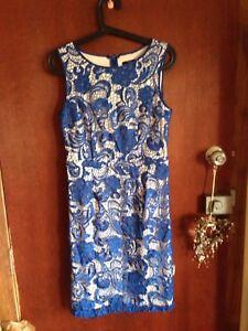 Events womens size 8 blue lace look dress bnwots