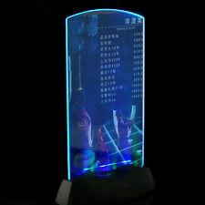 Acrylic Flashing LED Light Table Menu Restaurant Card Display Holder Stand D1