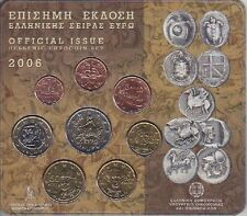 Grecia KMS 2006 euro in ORIG. BLISTER, corso set di monete, Greece COIN SET