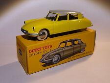 Citroen DS 19 jaune - ref 24 CP au 1/43 de dinky toys atlas