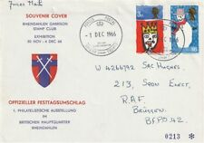 1 DECEMBER 1966 CHRISTMAS NON PHOS BSE FIRST DAY COVER FORCES EXHIBIT CANCEL