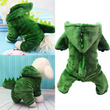 More details for winter fleece pet dog dinosaur clothes hoodie coat puppy costume outfit pajamas
