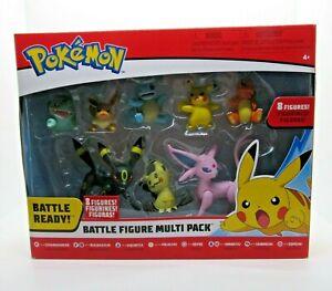 Pokemon Battle Figure Battle Ready Multi Pack 8 Figures Pikachu Charmander NEW