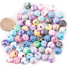 100pcs Beads Jewelry Accessory Ceramic Round 12 mm Dia. N8Z4 T2L9 K2A1