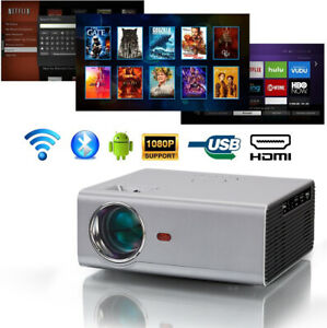 WIFI Mini Projector Portable Android Projector Bluetooth Home Theater Projector