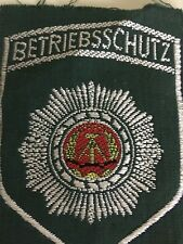 EAST GERMAN DDR BETRIEBSSCHUTZPOLIZEI  SHIRT PATCH. ORIGINAL UNISSUED