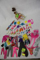 Large Lot of Mattel SPORTY Barbie Doll Clothes & Accessories: 62pcs Total+ Doll!