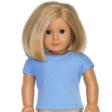 "CORNFLOWER BLUE TEE SHIRT - Doll Clothes - fits 18"" American Girl Dolls"
