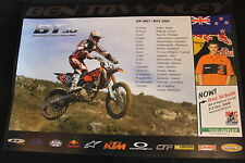 Poster Champ Team KTM 250 / 450 SX-F 2004 #30 Ben Townley (NZL) MX1 / MX2 (HW)