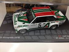 1/43 FIAT 131 ABARTH RALLYE ACROPOLIS ROHRL IXO RALLY 1978 MODELLBAU AUTO
