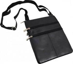 Brustbeutel XXL weiches Nappa Leder ideal für Reise, Dokumente oder Geld i909