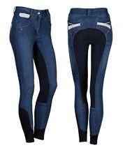Acción Mujer Jeans-Reithose,Plateado Acentos,Badana Aspecto de Ante Gr.38-46