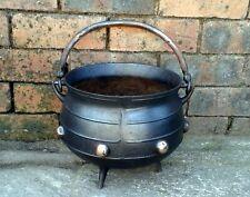 Antique cast iron copper Cauldron Cook Pot planter witch pagan wicca druid