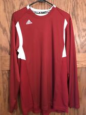 New Adidas With Tags Mens Burgandy(cardinal/white)L ong Sleeve Climalite Size M