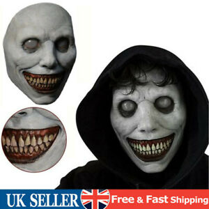 Halloween Party Creepy Face Cover Grinning Demon Headgear Mask Scary Role Play