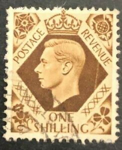 1937 Great Britain King George VI One Shilling Rare Vintage  (Collectible Stamp)