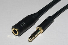 Slim Stereo 3.5mm Jack to 3.5mm Jack Socket Headphone Extension Cable 1.5m
