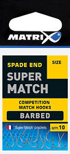 Fox Matrix Super Match Barbed Hooks Haken Angelhaken Stipphaken Stippen
