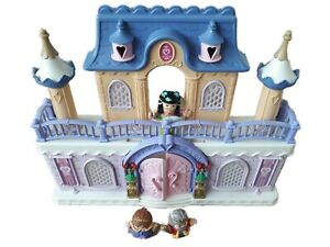 Vintage Keenway Toy Palace and Little People Figures King Queen Fairy