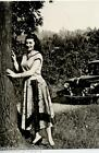 Girl & Car Bellezze e Motori Dolce Vita Automobile PC Circa 1960 Real Photo 9