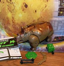 Transformers Beast Wars RHINOX complete 10th Anniversary Rhino Figure w manual