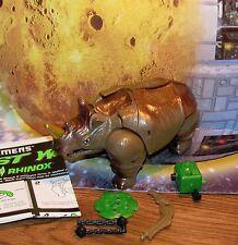 Transformers Beast Wars RHINOX complete 10th Anniversary Rhino Figure w manual
