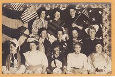 Real Photo Postcard RPPC - Women with American Flags and in Costume Patriotic