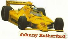 Johnny Rutherford Indy Car Sticker