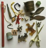 Vintage Cracker Jack Gumball Charms Lot of Prizes & Toys and More! Junk Drawer