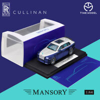 PRE-ORDER Time Model 1:64 Rolls-Royce Mansory Cullinan Blue Diecast Car Model