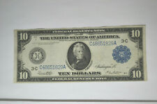 1914 $10 Federal Reserve Note- Wonderful condition and color.
