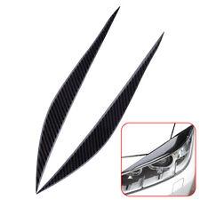 Carbon Fiber Headlight Eyebrow EyeLid Cover Trim for BMW 3 Series F30 2013-2017